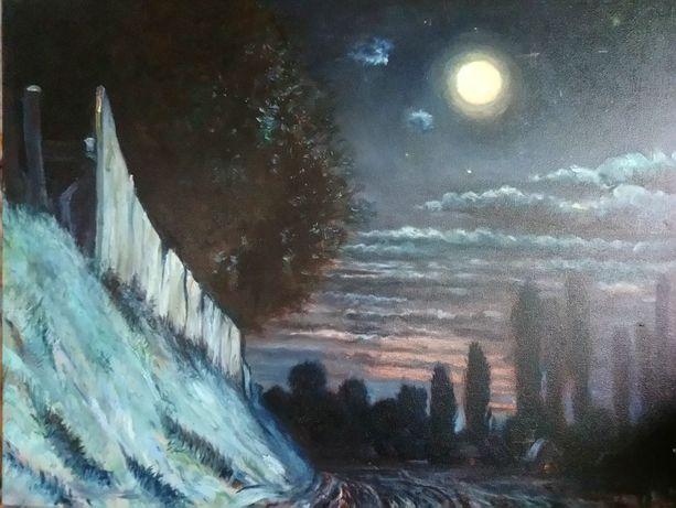 """Картина """"Тихая ночь"""", масло, 90х70 см."""