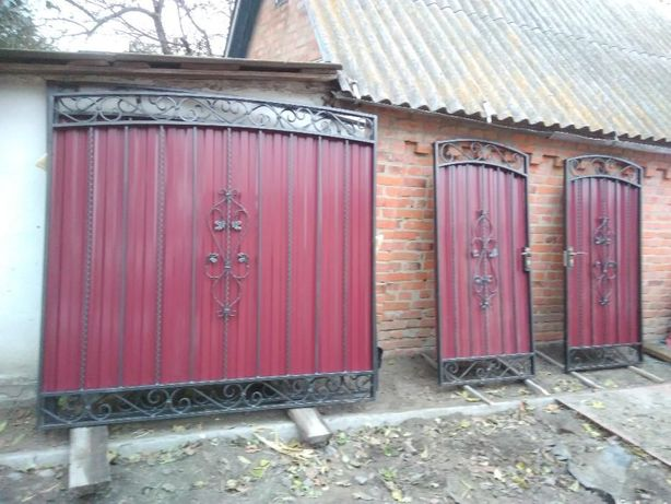 Козырьки, навесы , решетки на окна,ворота откатные распашные забор