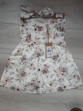 Sukienka Newbie 86 plus opaska