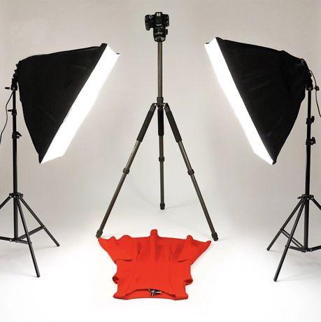 Постоянный студийный свет 50/70 на 4 лампы + стойка   SoftBox СофтБокс