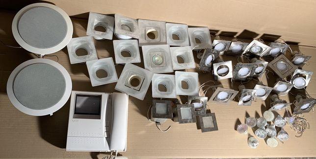 Oprawy oświetleniowe,halogeny gu10, domofon