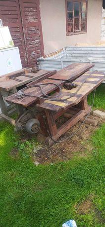 Heblarka, piła stołowa, wiertarka 3w1 sprawny silnik 4,5 kW