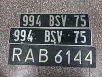 Stare tablice rejestracyjne