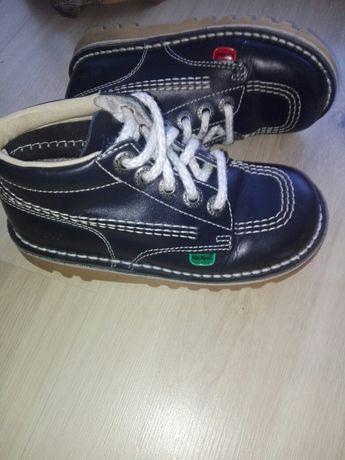 Buty, botki chłopięce, półbuty, trzewiki skórzane KicKers 29