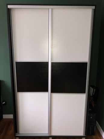 Szafa przesuwna Bodzio czarno-biała 120cm