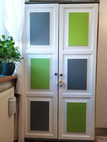 Szafa ubraniowa drewniana sosnowa kolorowa 180x98x60