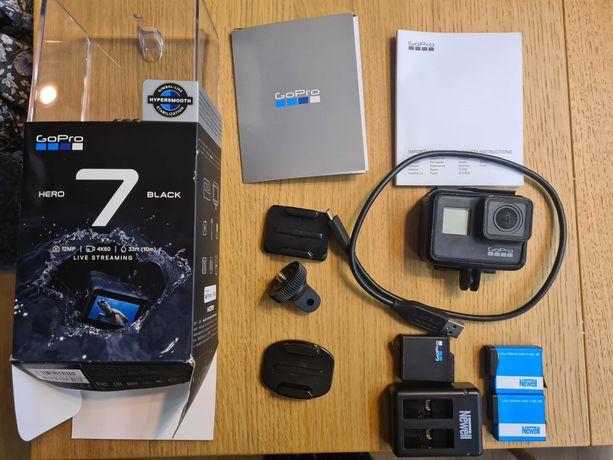 GoPro Hero 7 Black + 3 baterie! Sprawny