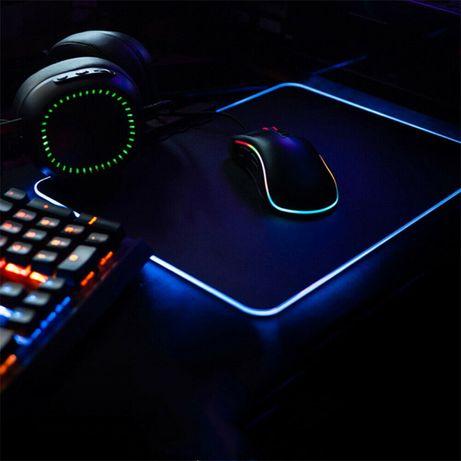 Rgb Led tapete para mouse rato pc jogos