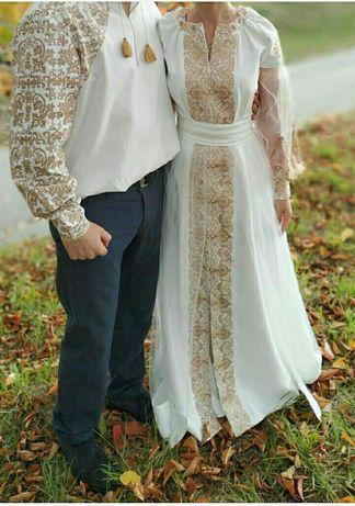 Парный свадебный наряд
