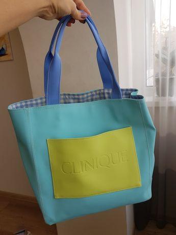 сумка пляжная летняя Клиник(Clinique)