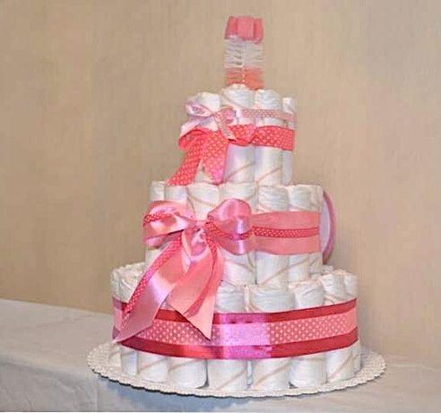 Торт памперси підгузки hugies подарунок хрестини народження малюк