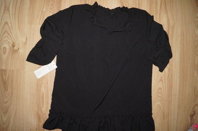 Sliczna czarna bluzka- m/l nowa