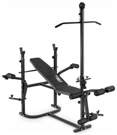 Zestaw do ćwiczeń 96kg sztanga ławka wyciąg gryf hantla modlitewnik