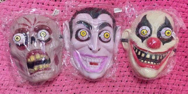 Маска на Хеллоуин страшная ужастик глаза детская аноним