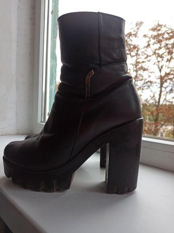 Зимнии ботинки на меху