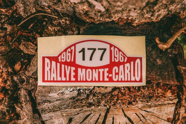 Autocolante Rallye Monte Carlo 1967 para Carro   NOVO