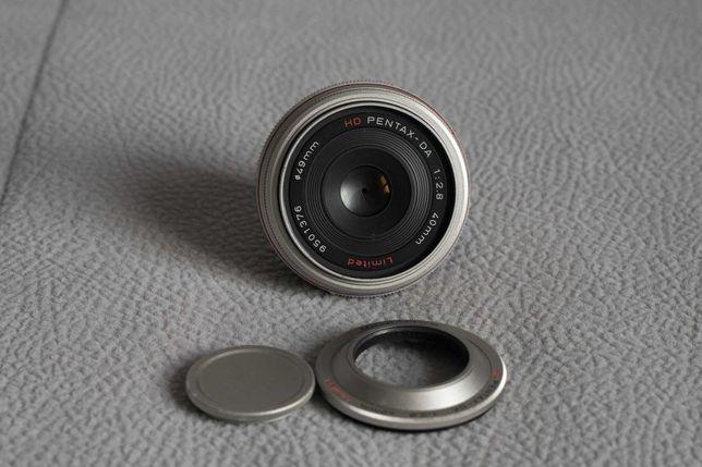 Obiektyw HD Pentax DA 40mm F2.8 Limited srebrny
