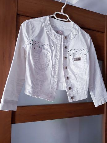 Kurtka jeansowa krótka biała