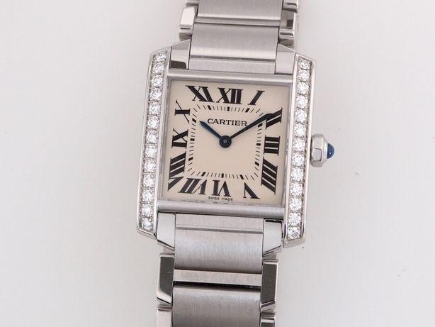 Женские новые часы Cartier Tank Diamonds Medium