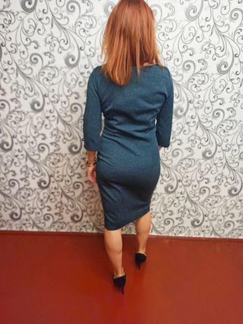 Сукня сіро-блакитна
