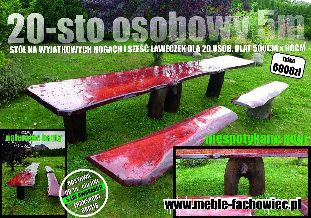 meble ogrodowe dla 20 osób biesiadne Wrocław - image 1