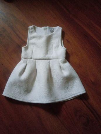 Biała sukienka RESERVED baby rozm. 68
