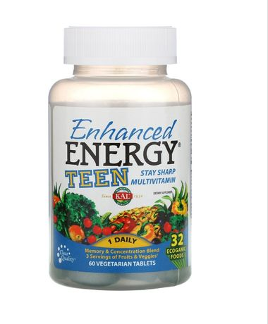 Enhanced Energy Teen Мультивитамины для Подростков 60 капсул Iherb