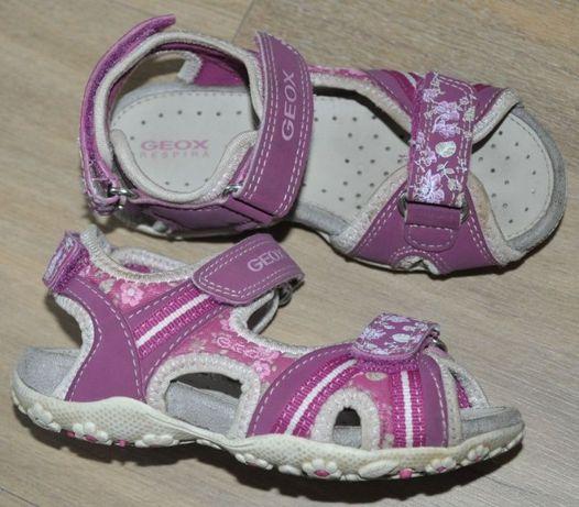 GEOX sandały R. 26 sportowe sandałki, skórzana wyściółka- jak Superfit