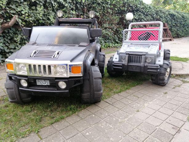 Samochód na akumulator hummer 2 silniki 12v bardzo duży 2 osobowy