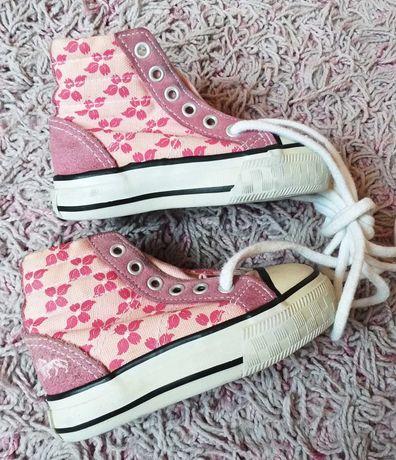 Różowe trampki 21 dziewczynka