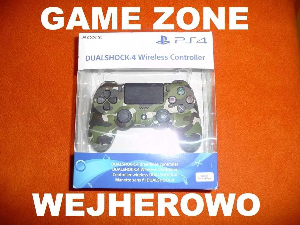 Pad Sony Dualshock 4 V2 PS4 + Slim + Pro = Green Camouflage = Zielony