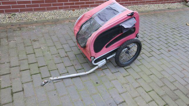 Wózek do roweru przyczepka do przewozu psów zwierząt