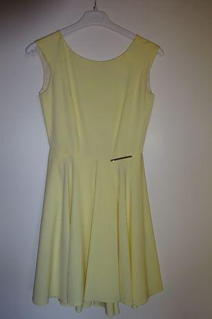 Żółta, cytrynowa sukienka na wesele