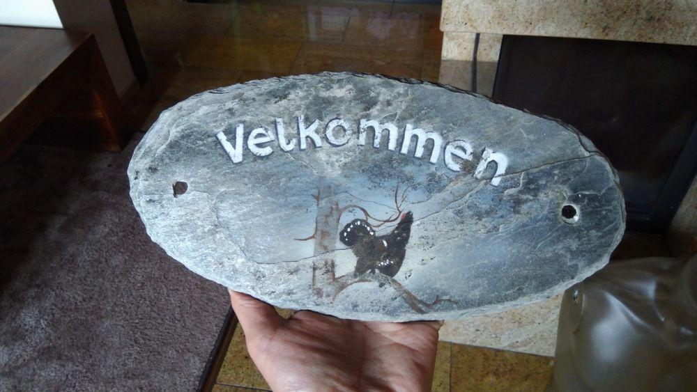 Tabliczka na drzwi, kamień naturalny, łupek malowany ręcznie Warszawa - image 1