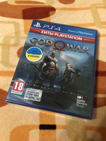 God Of War ps4 sony playstation 4 запакований диск