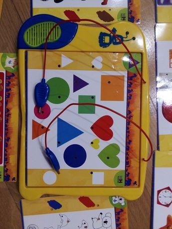 Obrazkowa zgadywanka-dopasuj i połącz kolory, kształty, liczby