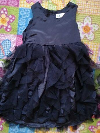 Śliczna elegancka sukieneczka z falbankami rozm. 98