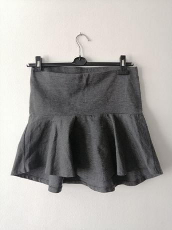Szara elegancka spódnica z dłuższym tyłem M L XL Gina Tricot
