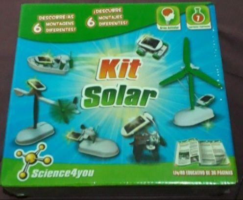 Kit solar + kit sabonetes Science 4you NOVOS