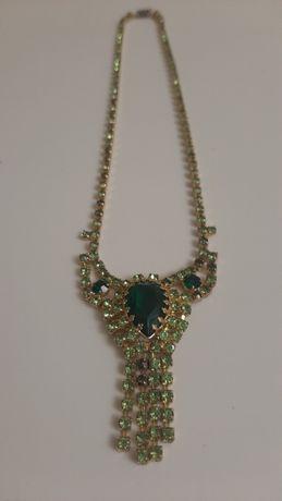 Винтажное колье (ожерелье) Jablonex. Чехословакия 1970-х годов.