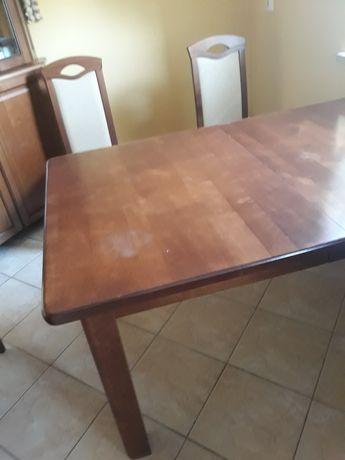 Stół i 6 krzeseł  Best Meble drewno lite