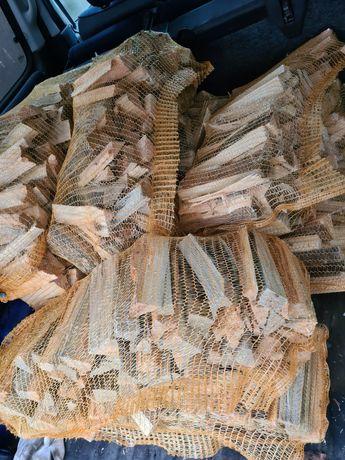 Drewno rozpałkowe workowane suche