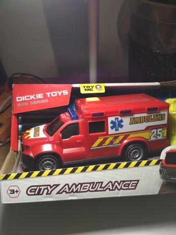 Zabawka samochód ratowniczy, miejski ambulans Dickie Toys