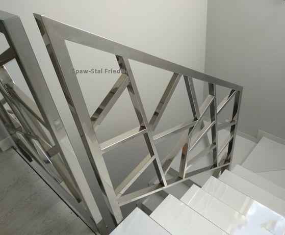 Balustrady,bramy,schody, zadaszenia- INOX,stal czarna oraz aluminium