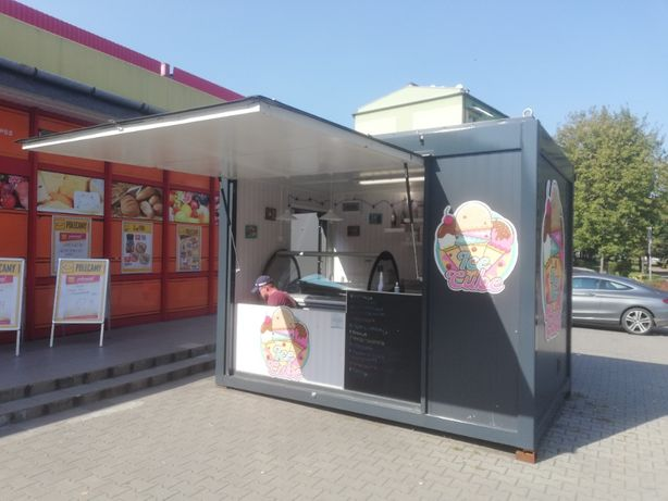 Kontener Gastronomiczny bar foodtruck Gotowy lody zapiekanki burger