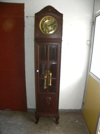 zegar stojący antyczny w stylu Chippendale