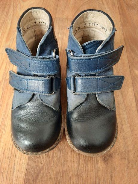 Детские кожаные ортопедические профилактические ботинки Берегиня 24 р