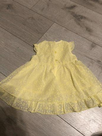 Фирменное нарядное платье, на свадьбу, крестины  желтое