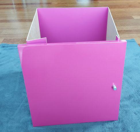 IKEA Kallax drzwiczki wkład różowy