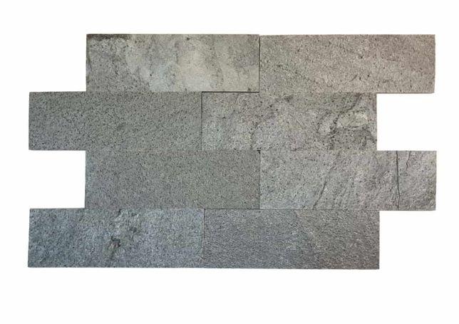 - 30% Płytki kamienne Łupek Silver Grey 30 x 10 cm | Promocja 30,6m2